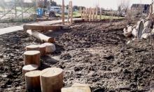 Balancierelement Natur-Generationen-Spielplatz Wittenförden gartenbau breuer