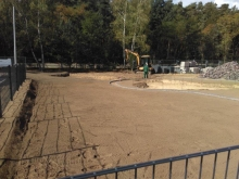 Zäune, Sandspielfläche und Rasenflächen für Kita von gartenbau breuer Schwerin